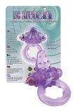 Nubby Clitoral Probe Cockring - Lavender