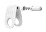 OVO fehér vibrációs péniszgyűrű B12