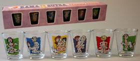 "6 db-os Röviditalos üveg pohár Kama Sutra pózokkal.Glas-Stamper ""Kama-Sutra"" (6er Set)"