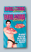 Everlasting dong. Harness with hollow cock
