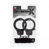 Bondx Metal Cuffs & Love Rope Set Black