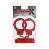 Bondx Metal Cuffs & Love Rope Set Red