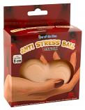 Stress Ball - stresszoldó labda - herék (natúr)